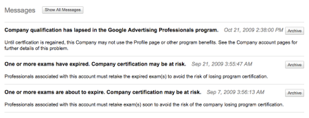 Adwords Pro Messages