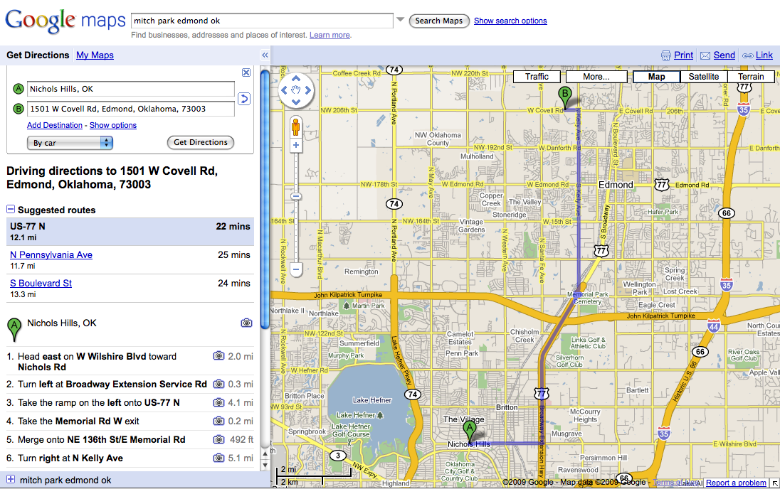 Maps And Driving Directions Google ~ AFP CV Driving Directions Using Google Maps on