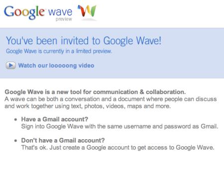 Google Wave Invitation