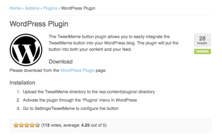 Tweetmeme WordPress Plugin