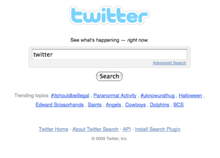 Twitter Search Fail