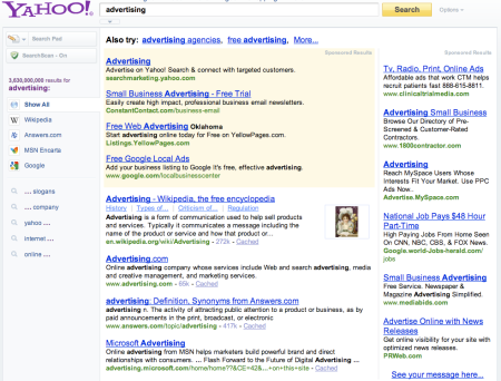 Yahoo Advertising Search
