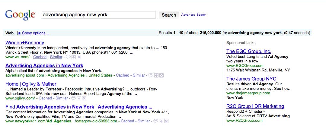 web advertising agency:
