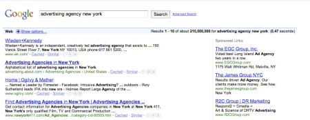 Advertising Agency New York Web Search