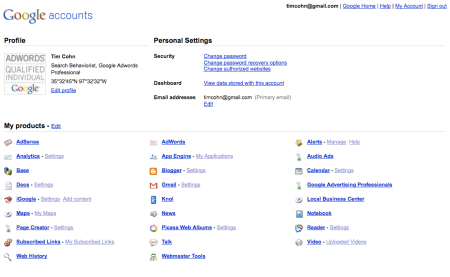 Google Accounts URL Shortener