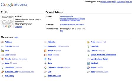 Google Accounts URL Shortener