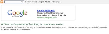 Google Blogger Follow Share