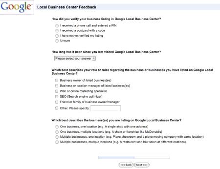 Google Local Business Center Feedback Process III