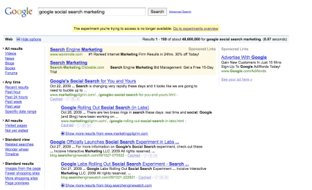 Google Social Search Marketing