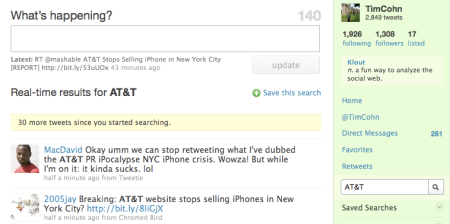 AT&T Twitter Search
