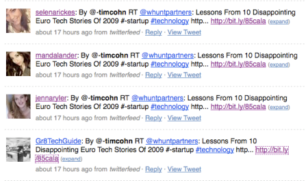 Duplicate Twitter Accounts