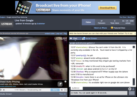 Broadcast Live From Your iPhone