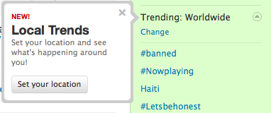 Twitter Local Trends