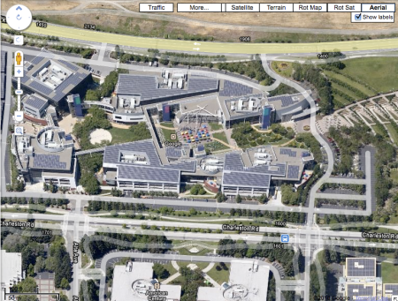 Aerial View of the Googleplex