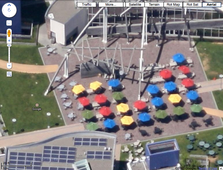 Aerial Imagery Of The Googleplex In Google Maps Search