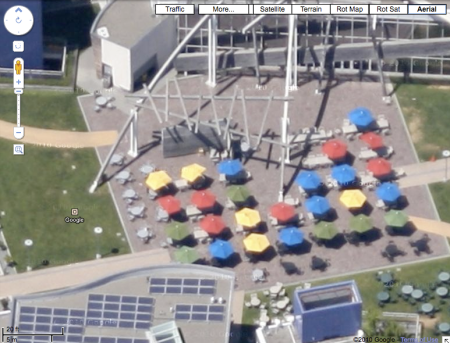Aerial Zoom of Googleplex