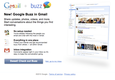 Gmail Buzz In Every Inbox