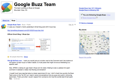 Google Buzz Team