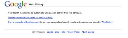 Google Web History
