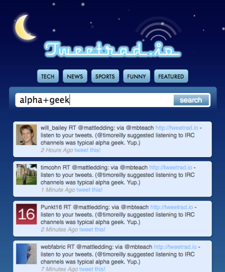 TweetRad.io Alpha Geek