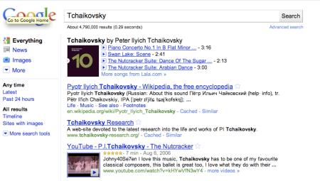 Tchaikovsky Song List