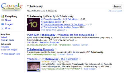Tchaikovsky Song List