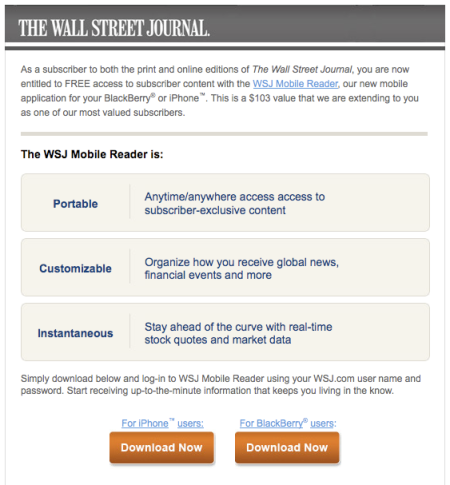 Wall Street Mobile Reader