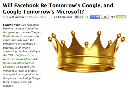 Will Facebook Dethrone Google