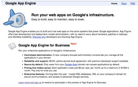 Google App Engine for Business
