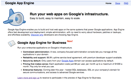 Google App Engine for Business