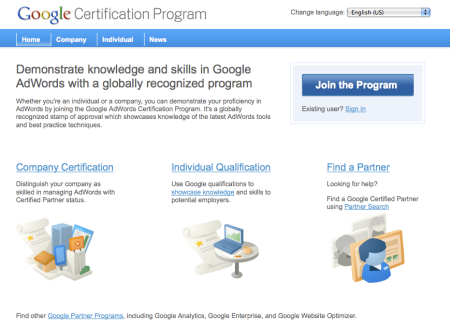 Google Certification Program