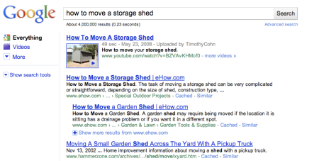 How to Move A Storage Shed Google