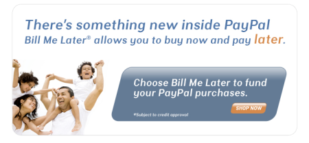 PayPal Bill Me Later