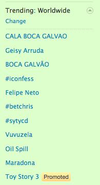 Toy Story 3 Promoted Tweet in Trending Worldwide