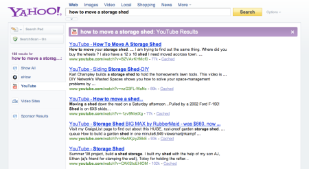 Yahoo YouTube Results