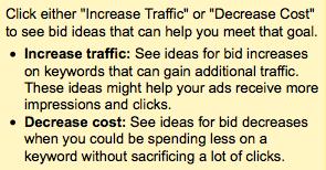 Increase Traffic Decrease Cost