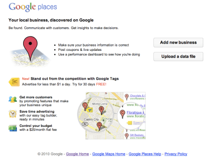 Google Places Offer