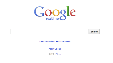 Google Real Time Search
