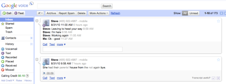 Google Voice Account