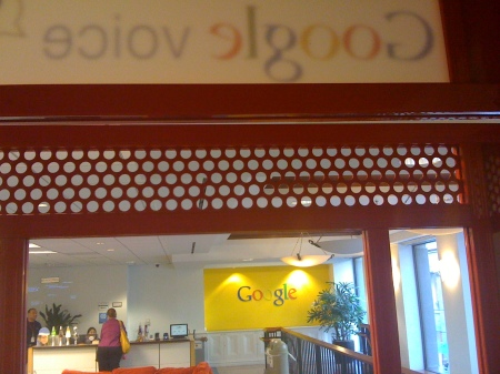 Google From Inside A Google Voice Phone Booth