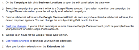 Sync Campaigns With Google Places