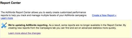 Adwords Report Center