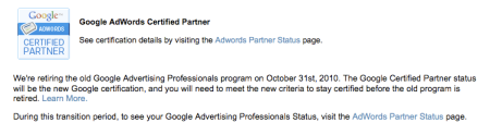 Google Advertising Professionals Program Retiring