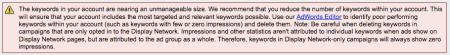 Google Adword Keyword Alert