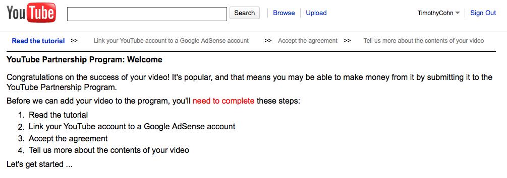 Youtube Partnership Program Search Marketing Communications