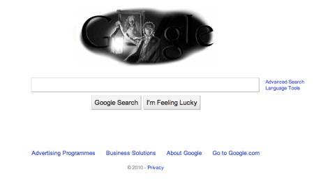 Oscar Wilde Google Doodle in UK