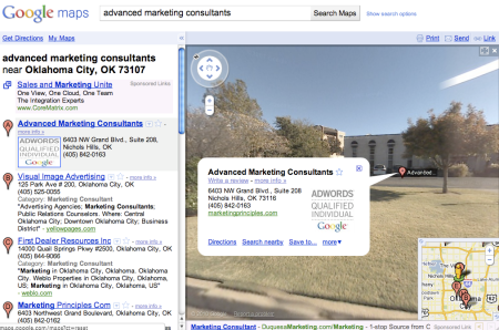 Google Street View Advanced Marketing Consultants