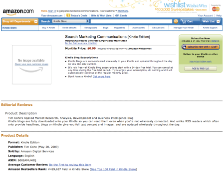 Search Marketing Communications Kindle Edition