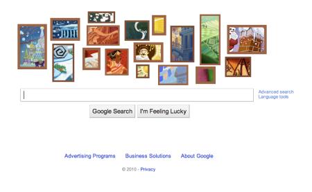 Google Christmas Doodle 2010