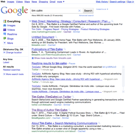 Realtime Google Results